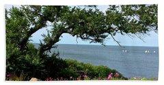 Oceanside Floral Blessings 2 Beach Towel