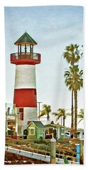 Oceanside Harbor Lighthouse Beach Towel
