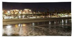 Beach Towel featuring the photograph Oceanside Night by Suzanne Oesterling