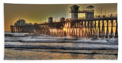 Oceanside Pier Hdr  Beach Towel