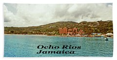 Beach Towel featuring the photograph Ocho Rios Jamaica by Gary Wonning