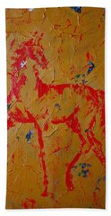 Ochre Horse Beach Towel