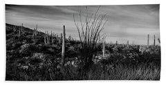 Ocotillo And Saguaros Beach Sheet