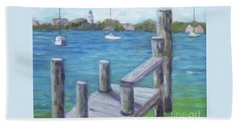 Ocracoke Harbor Beach Towel