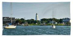 Ocracoke Island Lighthouse From Silver Lake Beach Sheet