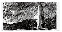 Ocracoke Island Lighthouse II Beach Sheet by Ryan Fox