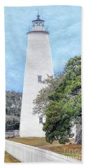 Ocracoke Lighthouse Beach Towel by Marion Johnson