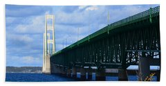 October At The Straits Of Mackinac Beach Towel