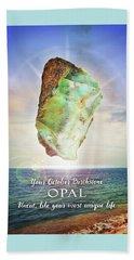 October Birthstone Opal Beach Towel