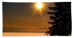 October Fog Beach Towel