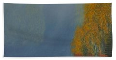 Beach Towel featuring the painting October On The River by Stanza Widen