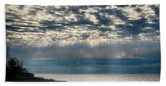 Beach Towel featuring the photograph October Sky by William Selander
