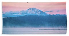 October Snow Beach Towel