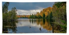 October Storm Beach Towel