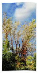 October Sunny Afternoon Beach Towel