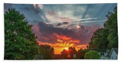 Beach Towel featuring the photograph October Sunrise, Virginia by Jim Moore
