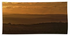 October Sunset In Acadia Beach Towel