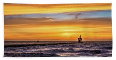 Beach Sheet featuring the photograph October Surprise by Bill Pevlor