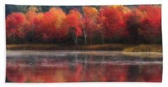October Trees - Autumn  Beach Towel by MTBobbins Photography
