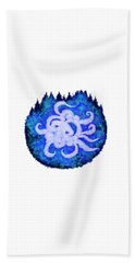 Beach Towel featuring the digital art Octopus And Trees by Adria Trail