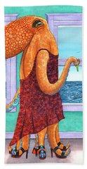 Octopus In A Cocktail Dress Beach Sheet