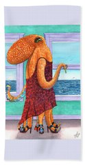 Octopus In A Cocktail Dress Beach Towel