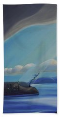 Ode To The North II - Left Panel Beach Towel