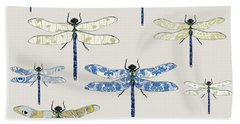 Odonata Beach Towel by Sarah Hough
