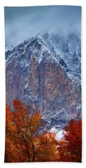 Of Fire And Ice Beach Towel