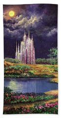 Of Glass Castles And Moonlight Beach Towel