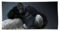 Off Duty Gorilla Beach Towel