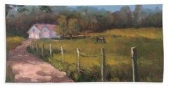 Off The Path In Whiting Bay Beach Towel