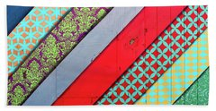 Off The Wall - Pattern 4 Beach Towel by Colleen Kammerer