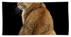 offended British cat Golden color Beach Towel