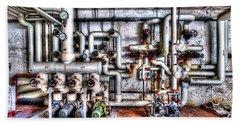Office Building Pump Room - Sala Pompe Palazzo Abbandonato Beach Sheet