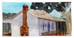 Officer Quarters At Fort Martin Scott Beach Towel by R Kyllo