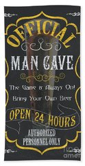 Official Man Cave Beach Towel