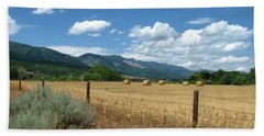Ogden Valley Hay Bales Photo Beach Towel