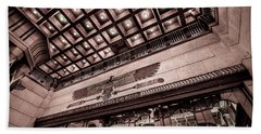 Ogden's Historic Peery's Egyptian Theater At Night  Beach Towel by Gary Whitton