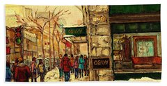 Ogilvys Department Store Downtown Montreal Beach Sheet by Carole Spandau
