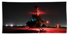 Oh-58d Kiowa Pilots Run Beach Towel