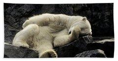 Oh What A Night Polar Bear Beach Towel