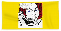 Ohhh...alright - Roy Lichtenstein Beach Sheet