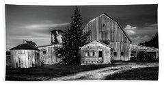Ohio Barn At Sunrise Beach Sheet