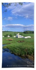 3d203 Ohio Farm Photo Beach Towel