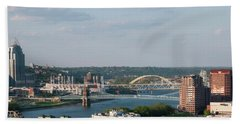 Ohio River's Suspension Bridge Beach Towel