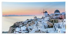 Oia, Santorini - Greec Beach Towel
