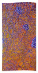 Oil And Water Grape Design Beach Towel by Bruce Pritchett