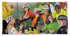 Oil- Luncheon Of The Cycling Party Beach Sheet