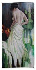 Oil Msc 016 Beach Towel by Mario Sergio Calzi